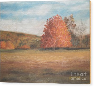 Amid The Tranquil Presence Of Change Wood Print by Lisa Urankar