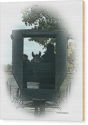Amish Buggy Ride Wood Print by TnBackroadsPhotos