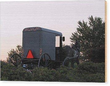 Amish Parking Wood Print