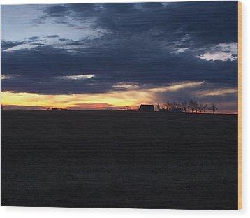 Amish Sunrise Wood Print by Joshua House