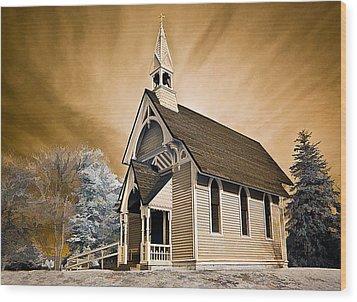 Amityville Chapel Wood Print