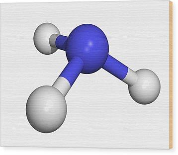 Ammonia Molecule Wood Print by Dr Tim Evans