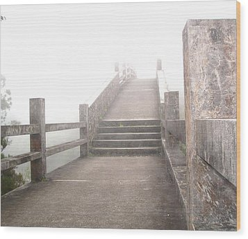 Among The Clouds Wood Print by Jonathan Lagace