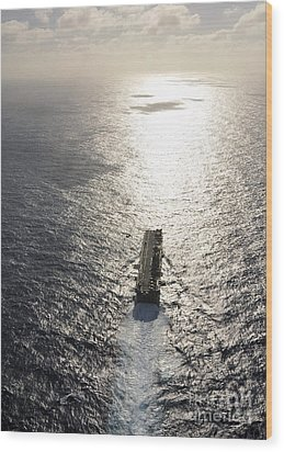 Amphibious Assault Ship Uss Boxer Wood Print by Stocktrek Images