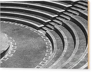 Amphitheatre Wood Print by Gaspar Avila