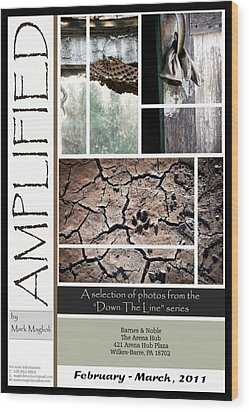 Amplified Poster Wood Print by Maglioli Studios