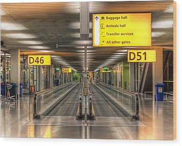 Wood Print featuring the photograph Amsterdam Airport by Anna Rumiantseva