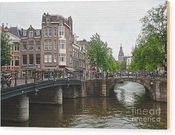 Amsterdam Bridge - 02 Wood Print by Gregory Dyer