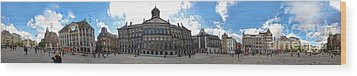 Amsterdam - Dam Square - 02 Wood Print by Gregory Dyer