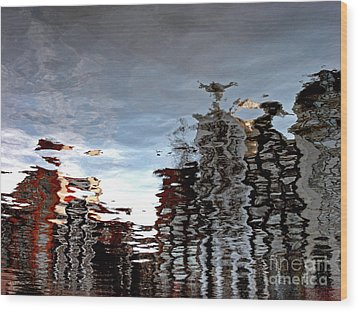 Amsterdam Reflections Wood Print