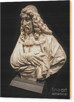 Amsterdam Rijksmuseum Classic Bust - 01 Wood Print by Gregory Dyer