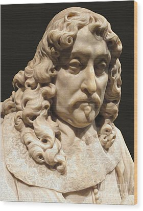 Amsterdam Rijksmuseum Classic Bust - 03 Wood Print by Gregory Dyer