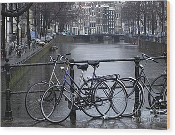 Amsterdam The Netherlands Wood Print by Bob Christopher