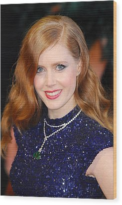 Amy Adams Wearing A Cartier Necklace Wood Print by Everett