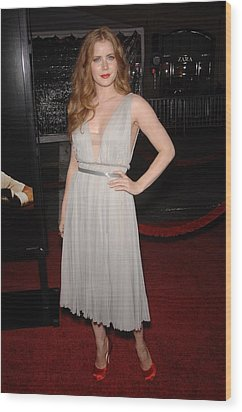 Amy Adams Wearing A J. Mendel Dress Wood Print by Everett