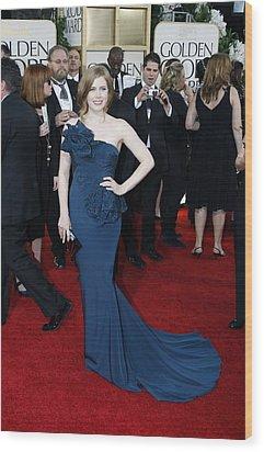 Amy Adams Wearing A Marchesa Gown Wood Print by Everett