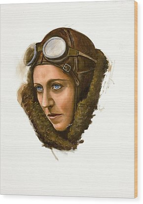 Amy Johnson Wood Print