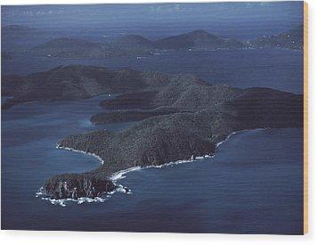 An Aerial Of Saint John Island Wood Print by Ira Block