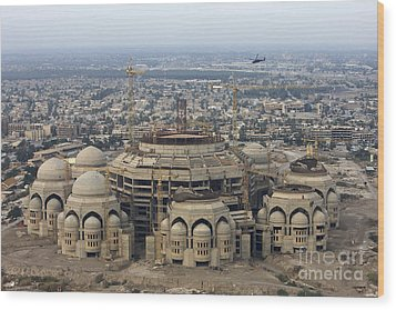 An Aerial View Of Saddam Hussiens Great Wood Print by Terry Moore