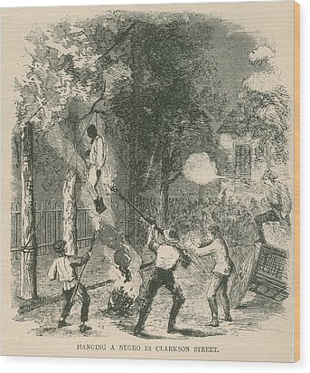 An African American Was Attacked Wood Print by Everett