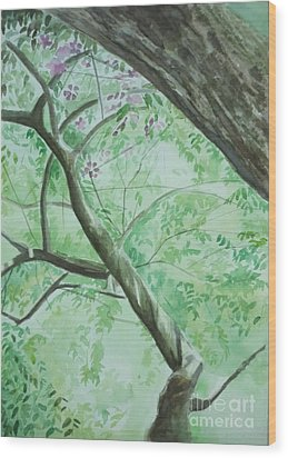 An Afternoon In My Garden Wood Print by Vuong Anh Tuan