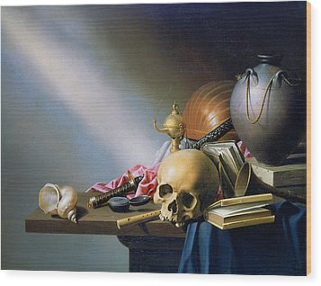 'an Allegory Of The Vanities Of Human Life' By Harmen Steenwych Wood Print by Photos.com