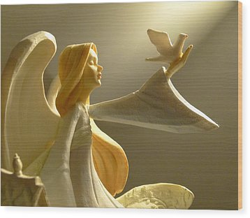 Wood Print featuring the photograph An Angelic Offering Of Peace by Cindy Wright