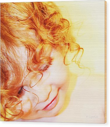 An Angels Smile Wood Print by Kerri Ligatich