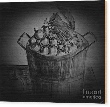 An Apple A Day Wood Print by Ayasha Loya