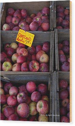 An Apple A Day Wood Print by April Bielefeldt