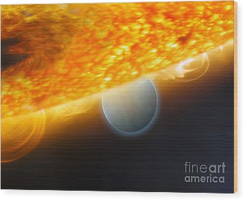 An Artists Impression Of A Jupiter-size Wood Print by Stocktrek Images