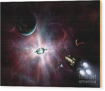 An Enormous Stellar Power Wood Print by Brian Christensen