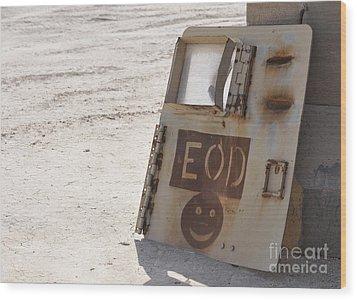 An Explosive Ordnance Disposal Logo Wood Print by Stocktrek Images
