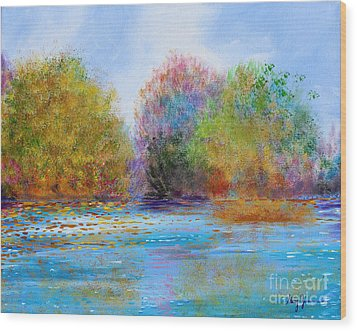 Wood Print featuring the painting An Impressionist's Symphony by Stacey Zimmerman