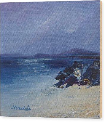 An Iona Beach Wood Print by Margaret Denholm