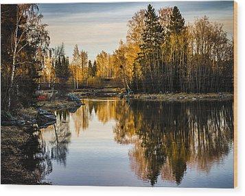 Wood Print featuring the photograph An Island by Matti Ollikainen