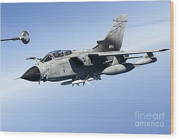 An Italian Air Force Tornado Ids Wood Print by Gert Kromhout