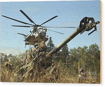 An Mh-53e Sea Stallion Helicopter Wood Print by Stocktrek Images