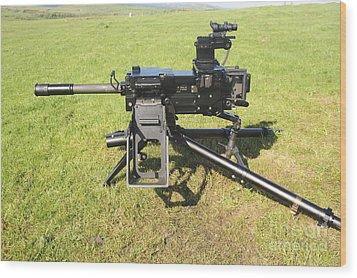 An Mk19 40mm Machine Gun Wood Print by Andrew Chittock