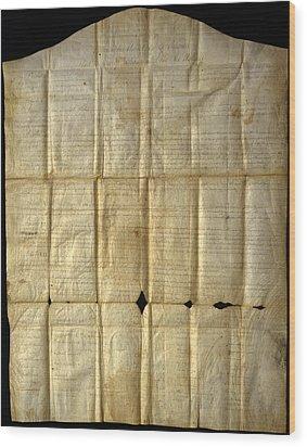 An Original Copy Of The Canandaigua Wood Print by Joseph D. Lavenburg