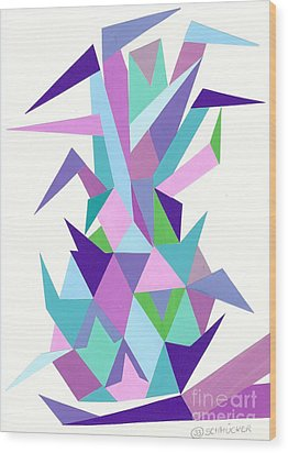 Ananas No.4 Wood Print by Roswitha Schmuecker