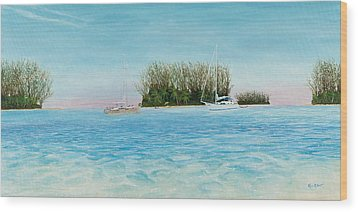 Anchorage At Crystal Bay Wood Print by Kevin Brant