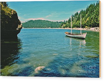 Wood Print featuring the photograph Anchored In Bay by Michelle Joseph-Long