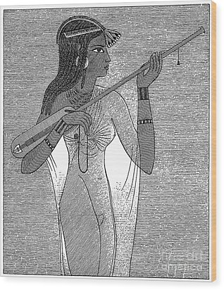 Ancient Egypt: Music Wood Print by Granger