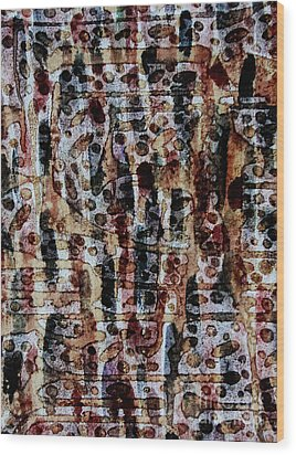 Ancient Etch Wood Print by TB Schenck