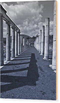 Ancient Messini Greece Wood Print by Stavros Argyropoulos