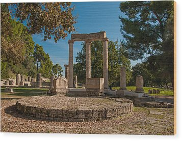 Ancient Olympia Greece Wood Print by Stavros Argyropoulos