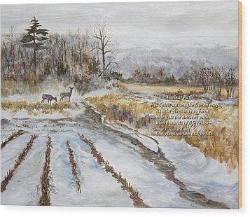 Wood Print featuring the painting Ancient Path With Poem by George Richardson