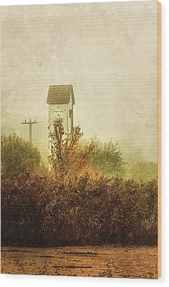 Ancient Transformer Tower Wood Print