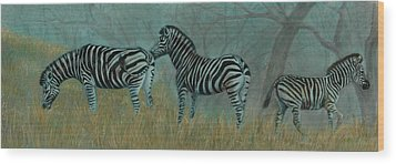 And Baby Makes Three Wood Print by Linda Harrison-parsons
